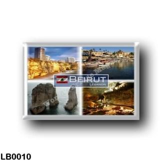 LB0010 Asia - Lebanon - Beirut - Raouché Beirut - Port Byblos - Pigeon Rock - Cave at Jeita - Panorama