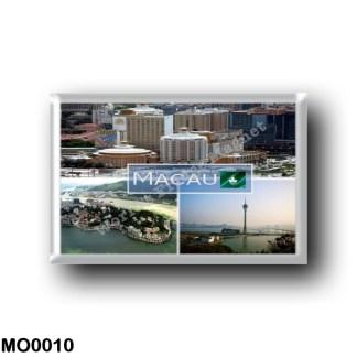 MO0010 Asia - Macau - Downtown - Casino Lisboa - Landscape of Penha Hill - Macau Tower