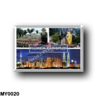 MY0020 Asia - Malaysia - Kuala Lumpur - Jamek Mosque - Batu Caves - Petronas Towers