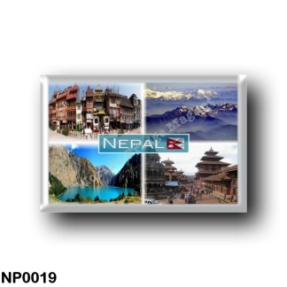 NP0019 Asia - Nepal - Boudha Stupa - Annapurna range of the Himalayas - Phoksundo Lake - Durbar Square a Patan (mongol bazar)