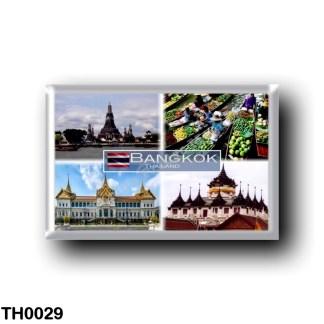 TH0029 Asia - Thailand - Bangkok - Wat Arun Chao Phraya River - Floating Market - Gran Palace