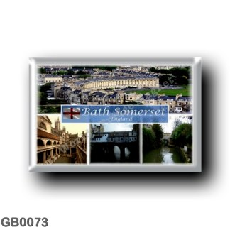 GB0073 Europe - England - Bath Somerset - Bath Abbey - The Royal Crescent - Pulteney Bridge - Roman Baths - Sydney Garden Avon R