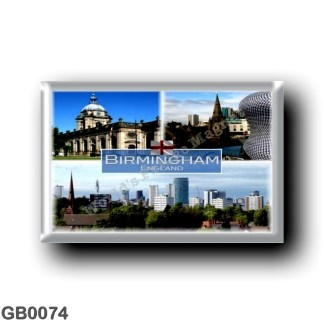 GB0074 Europe - England - Birmingham - Saint Martin's Church and Selfridges department - Saint Philip's Cathedral - Skyline of B