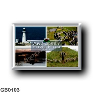 GB0103 Europe - Wales - Anglesey Ynws Mon Wales Beaumaris Menai - Sought Stack Lighthouse - Bryn Celli Ddu - Beach - Beaumaris C