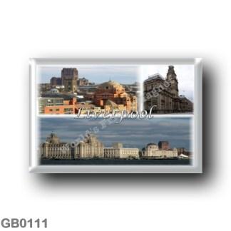 GB0111 Europe - England - Liverpool - Panorama - Pier Head