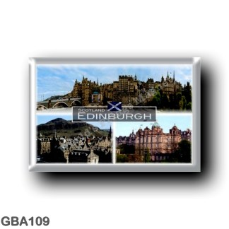 GBA109 Europe - Scotland - Edinburgh - Castle - Panorama - The Bank of Scotlan's head office - Old Town . jpg
