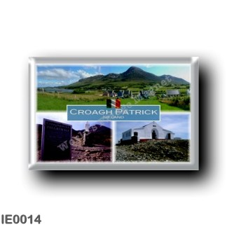 IE0014 Europe - Ireland - Croagh Patrick - Cruaighpadraigh - Rules of the reek - Stastue of Saint Patrick - Chapel - Saint Patri