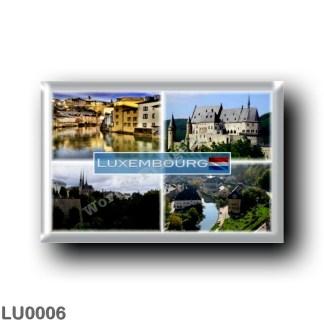 LU0006 Europe - Luxembourg - Alzette - Vianden Castle - Notre Dame Cathedral - Grund