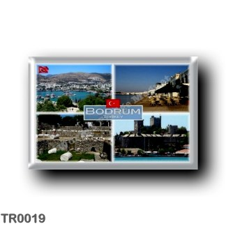 TR0019 Europe - Turkey - Bodrum - Harbour - Seaside - Halicarnassus Musoleum - Castle