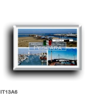 IT13A6 Europe - Italy - Abruzzo - Pescara - The Sea Bridge - Canal Port Trabocchi - Canal Port