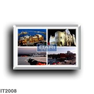 IT2008 Europe - Italy - Puglia - Bari Italy - Harbor - Sea View - Basilica San Nicola - Margherita Theater - Panorama