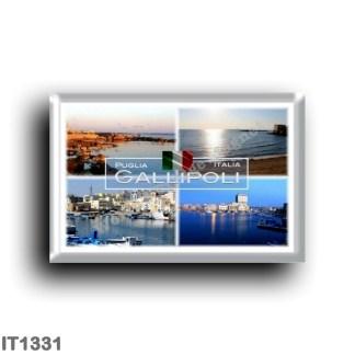 IT1331 Europe - Italy - Puglia - Gallipoli - Salento - Porto - Beach - Panorama - Lecce