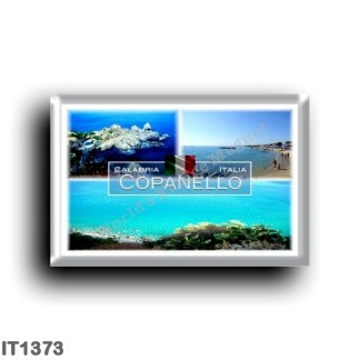 IT1373 Europe - Italy - Calabria - Copanello - Sea and Cliff - Beach - Panorama - Ionian Sea - Catanzaro
