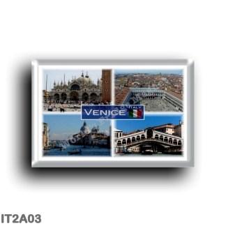 IT2A03 Europe - Italy - Venice - Grand Canal - Basilica San Marco - Murano - San Marco Square - Rialto Bridge - Panorama