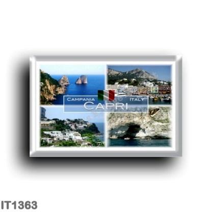 IT1363 Europe - Italy - Campania - Capri - The Faraglioni - Marina Grande - Grotta Meravigliosa - Naples