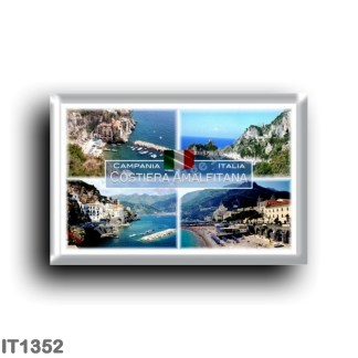 IT1352 Europe - Italy - Campania - Amalfi Coast - Amalfi Beach - Atrani - Marina di Conca