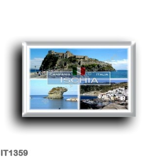 IT1359 Europe - Italy - Campania - Ischia Island - Borgo SantAngelo - The famous Lacco Ameno Mushroom - Aragonese Castle