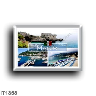 IT1358 Europe - Italy - Campania - Maiori - Torre Normanna - Beach - Porto - Salerno