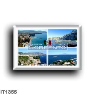 IT1355 Europe - Italy - Campania - Sorrento - Panorama - Naples - Vesuvius - Marina Piccola - Aerial view