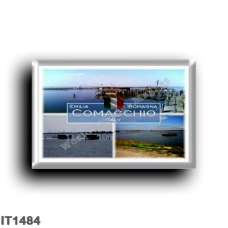 IT1484 Europe - Italy - Emilia Romagna - Comacchio - Fishing shed - Valley - Sea View