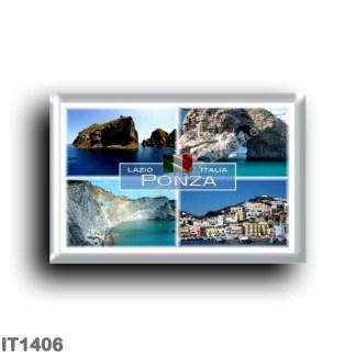 IT1406 Europe - Italy - Lazio - Ponza - Natural Arch - Cala di Luna - Palmarola - Faraglione di Mezzogiorno - Harbor