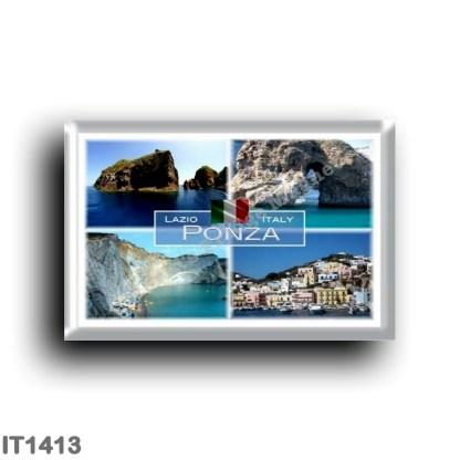IT1413 Europe - Italy - Lazio - Ponza - Natura Arch - Chiaia di Luna - Palmarola - Faraglione di Mezzogiorno - Harbor