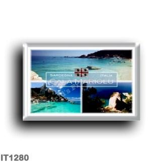 IT1280 Europe - Italy - Sardinia - Baulei - Cove Mariolu Ispuligedenie - Orosei Gulf - panorama - Sea