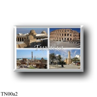 TN00a2 Africa - Tunisia - 3 Domes of the Great Mosque of Kairouan - The Roman Amphitheater of El Djem