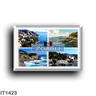 IT1423 Europe - Italy - Liguria - Zoagli - Canevaro Castle - Cliff - Panorama