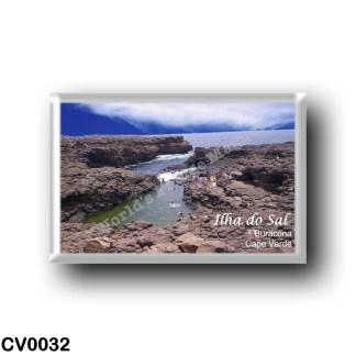 CV0032 Africa - Cape Verde - Ilha do Sal - Natural swimming pool of Buracona