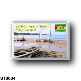 ST0004 Africa - São Tomé and Príncipe - Fishermen's Beach
