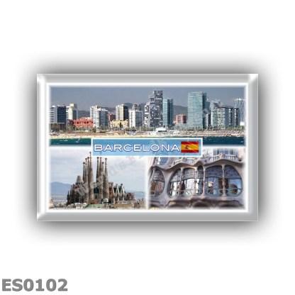 ES0102 Europe - Spain - Barcelona - Skyline - Sagrada Familia - Casa Batllo