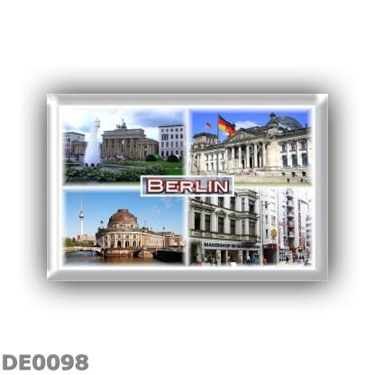 DE0098 - Europe - Germany - Berlin - Brandenburg Gate - Reichstag - Museum Island - Checkpoint Charlei Museum