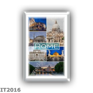 IT2016 - Europe - Italy - Rome - Saint Peter s Basilica - Colosseum - Pantheon - Trevi Fountain- Castel Sant Angelo at night - S