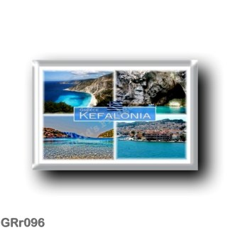 GRr096 Europe - Greece - Kefalonia - Melissani Cave - The famous Myrtos Beach - Argostoli - Sea View - Panorama