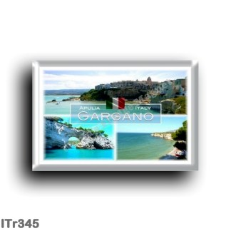 ITr345 Europe - Italy - Puglia - Gargano - Vieste - Beach Varcaro - The Architiello of Vieste