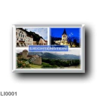LI0001 Europe - Liechtenstein - Vaduz - Parliament - Cathedral of Saint Florin - Vaduz Castle