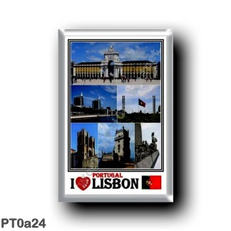 PT0a24 Europe - Portugal - Lisbonl - I Love Mosaic - Rua Augusta Arch - Cathedral - Belem Tower