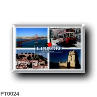 PT0024 Europe - Portugal - Lisbon - Portuga - The 25 Abril Bridge - Tram - Sao Jorge Castle - Belem Tower
