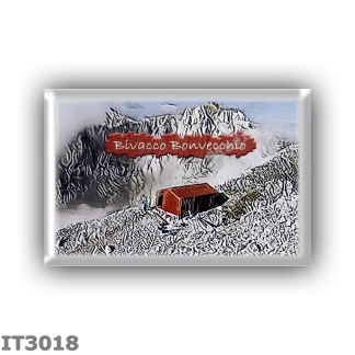 IT3018 Europe - Italy - Dolomites - Group Brenta - alpine hut Bivacco Bonvecchio - locality Cima Sassara - seats 6 - altitude me