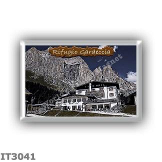IT3041 Europe - Italy - Dolomites - Group Catinaccio - alpine hut Gardeccia - locality Gardeccia - seats 44 - altitude meters 19