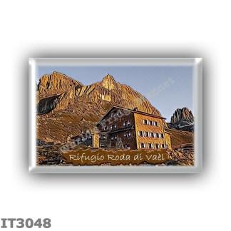 IT3048 Europe - Italy - Dolomites - Group Catinaccio - alpine hut Roda di Vael - locality Sella del Ciampaz - seats 50 - altitud