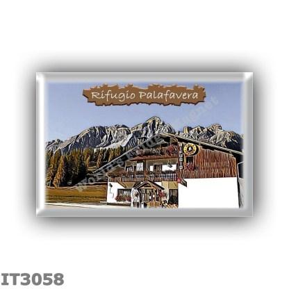 IT3058 Europe - Italy - Dolomites - Group Civetta-Pelmo - alpine hut Palafavera - locality Palafavera - seats 25 - altitude mete