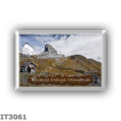 IT3061 Europe - Italy - Dolomites - Group Croda da Lago - alpine hut Bivacco Malga Mondeval - locality Alpe di Mondeval - seats