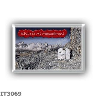 IT3069 Europe - Italy - Dolomites - Group Dolomiti di Sesto - alpine hut Bivacco Ai Mascabroni - locality Cima Undici - seats 9