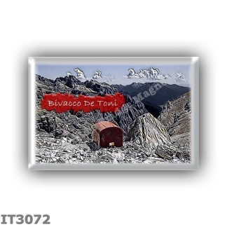 IT3072 Europe - Italy - Dolomites - Group Dolomiti di Sesto - alpine hut Bivacco De Toni - locality Forcella de l Agnel della Cr
