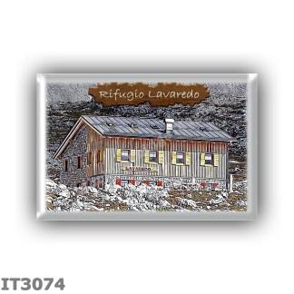 IT3074 Europe - Italy - Dolomites - Group Dolomiti di Sesto - alpine hut Lavaredo - locality Piani di Lavaredo - seats 30 - alti