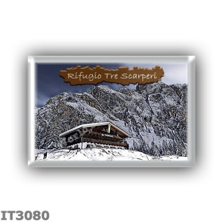 IT3080 Europe - Italy - Dolomites - Group Dolomiti di Sesto - alpine hut Tre Scarperi - locality Val Campo di Dentro - seats 56