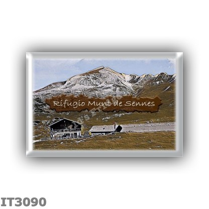 IT3090 Europe - Italy - Dolomites - Group Fanes-Braies - alpine hut Munt de Sennes - locality Alpe di Sennes - seats 0 - altitud