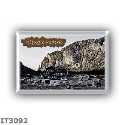IT3092 Europe - Italy - Dolomites - Group Fanes-Braies - alpine hut Pederu - locality Marebbe - seats 0 - altitude meters 1548